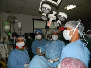 Live Demonstration of Total Laparoscopic Hysterectomy surgery Done by Prof. R. K. Mishra.