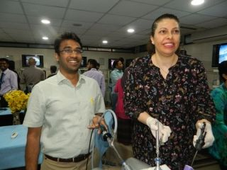 Hands on practice of Laparoscopic Intracorporeal Tumble Square Knot for surgeon & Gynecologist Demonstration by Prof. Dr. R. K. Mishra