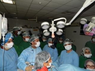 Live Total Laparoscopic Hysterectomy Surgery performed by Dr R K Mishra.