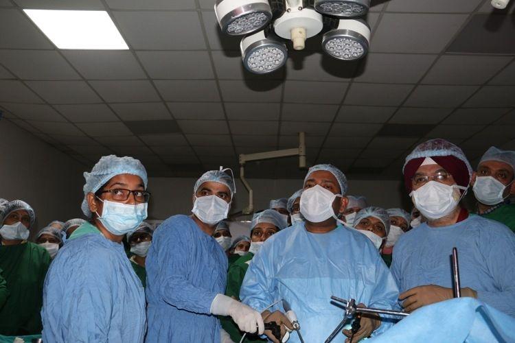 Live Demonstration of Laparoscopic Heller Myotomy With Dor Fundoplication by Prof Dr. R. K. Mishra.