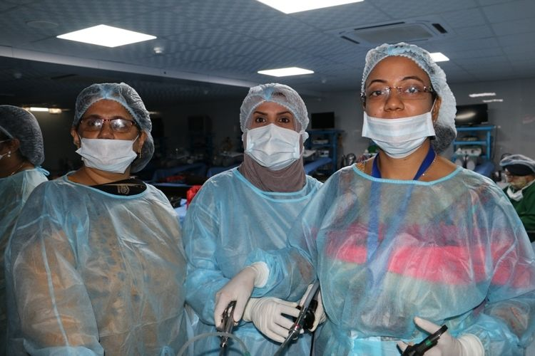 Hands on Training in minimal access surgery Surgeons & Gynecologist Practicing on the Live Tissue.