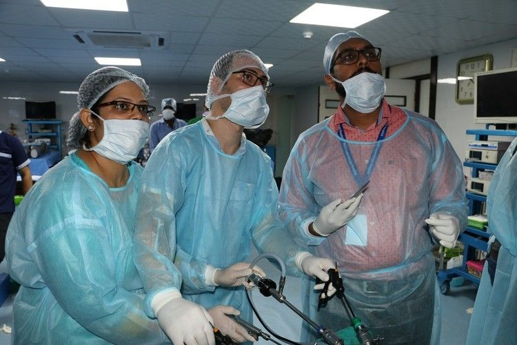 Hands on Training in Minimal access surgery Surgeons & Gynecologists Practicing on the Live Tissue