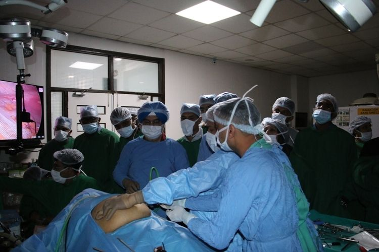Live laparoscopic two port ventral hernia Repair surgery Demonstration Prof.Dr. R. K. Mishra.