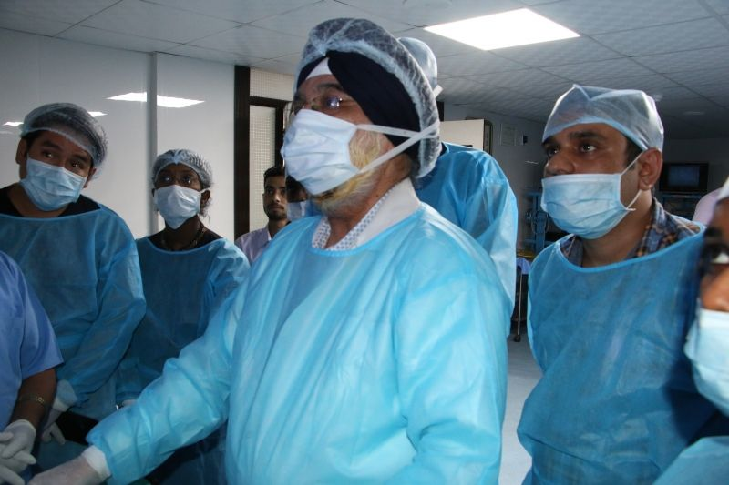 Today the surgeon  performed  Upper GI endoscopic procedure  on the live tissue  under the guidance of the Dr. J S. Chowhan.