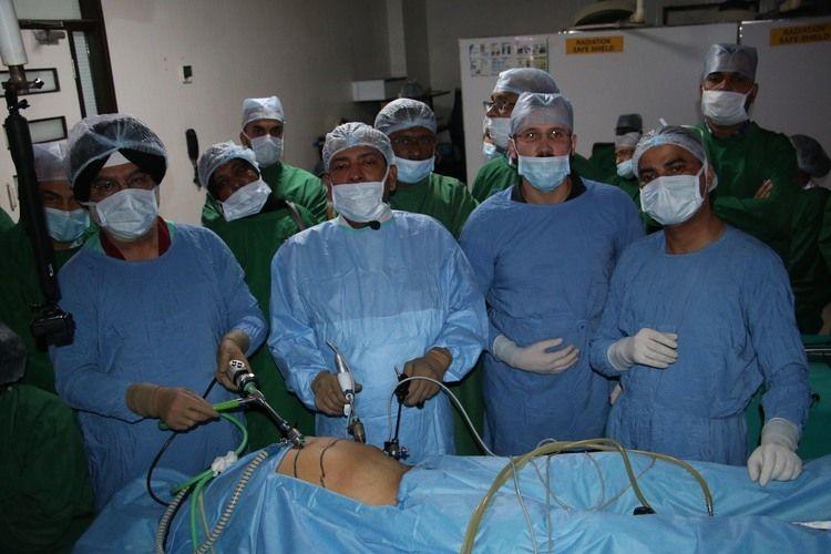 Live Demonstration laparoscopic Inguinal Hernia Repair Demonstration Prof Dr. R. K. Mishra