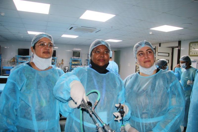 Today the Surgeons and Gynaecologist practice laparoscopic Nissen fundoplication,  Nephrectomy , Spleenectomy,  Sacrohysteropeexy and Sacrocolpopexy.  Laparoscopic Nissen fundoplication, Gastric Plication on the Live Tissue.