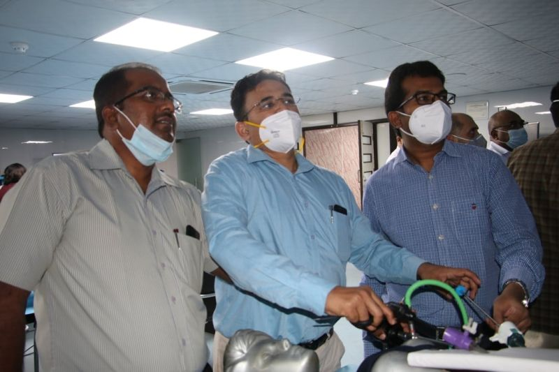 Surgeon & Gynecologist Practicing Intracorporeal Surgeons Knot Demonstration by Prof. Dr. R K Mishra