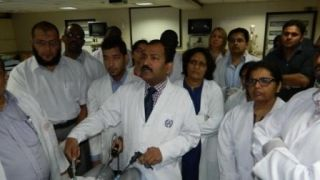 Surgeon & Gynecologist  Practicing Surgeons Knot Demonstration by Prof. Dr. R K Mishra.
