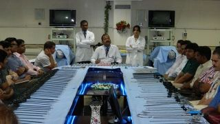 First day of August 2014 batch Laproscopic Surgery Training