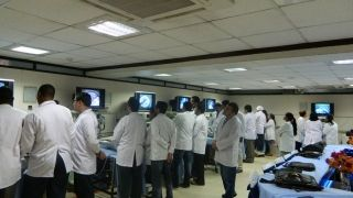 Laparoscopic Instrument Design Demonstration of Telescope, Camera, Light Source and Light Cables
