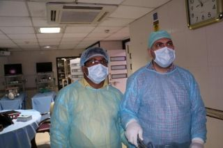 Surgeons Performing Fundoplication, Nephrectomy and Rectopexy.
