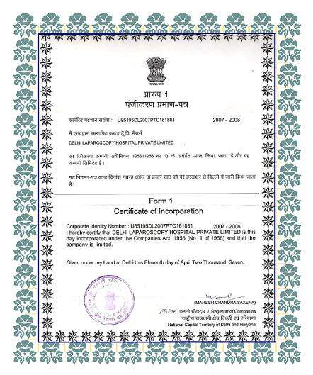 company certificate