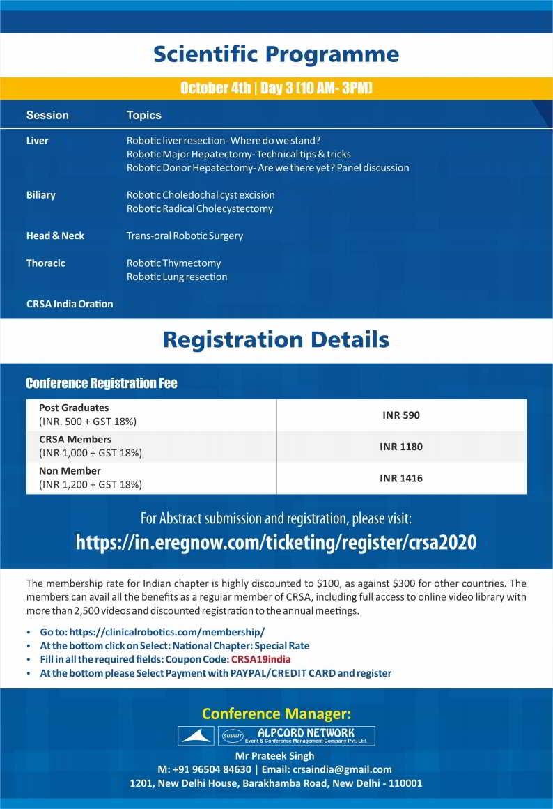 Clinical Robotic Surgery Association India