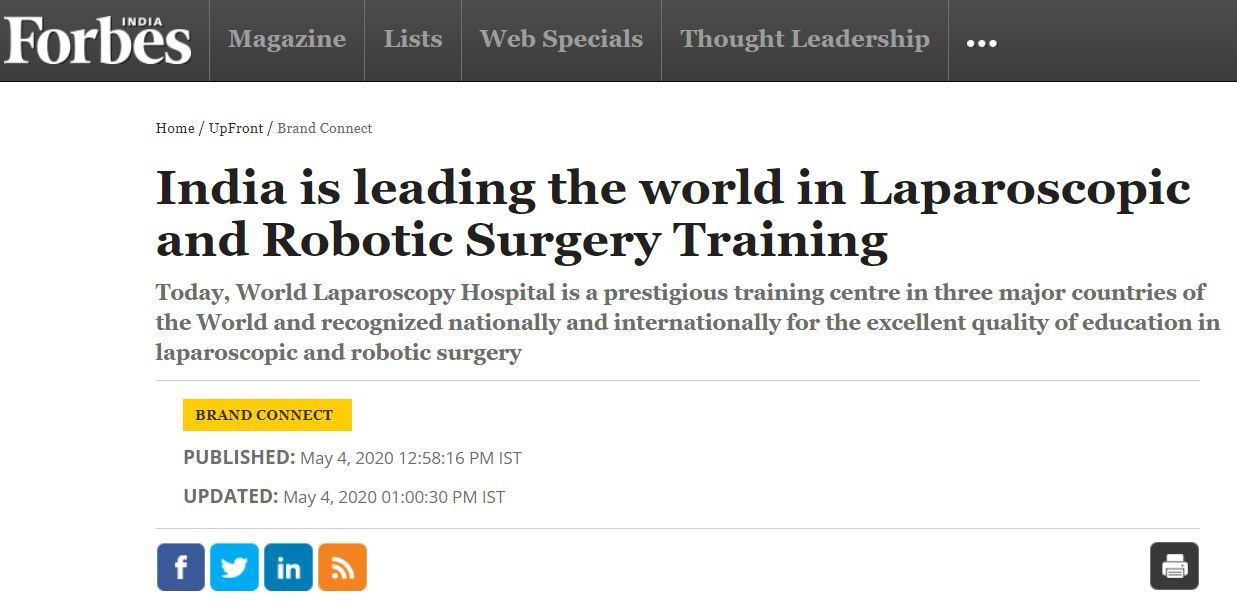 World Laparoscopic Press Release in Forbes