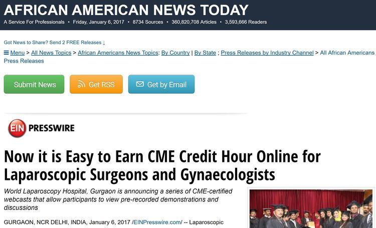 Now it is Easy to Earn CME Credit Hour Online for Laparoscopic Surgeons and Gynaecologists
