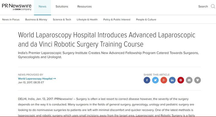World's Most Popu;lar Institute of Laparoscopic Surgery