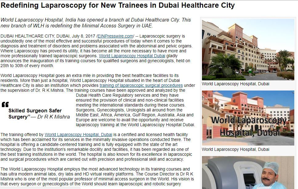 Redefining Laparoscopy for New Trainees in Dubai Healthcare City