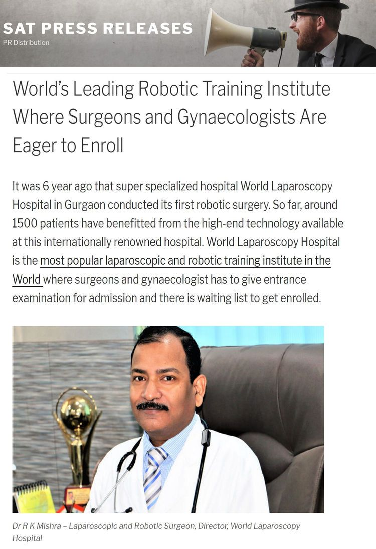 World's Leading Robotic Surgery Training Institute