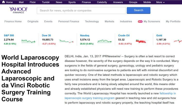 World Laparoscopy Hospital News at Yahoo Finance