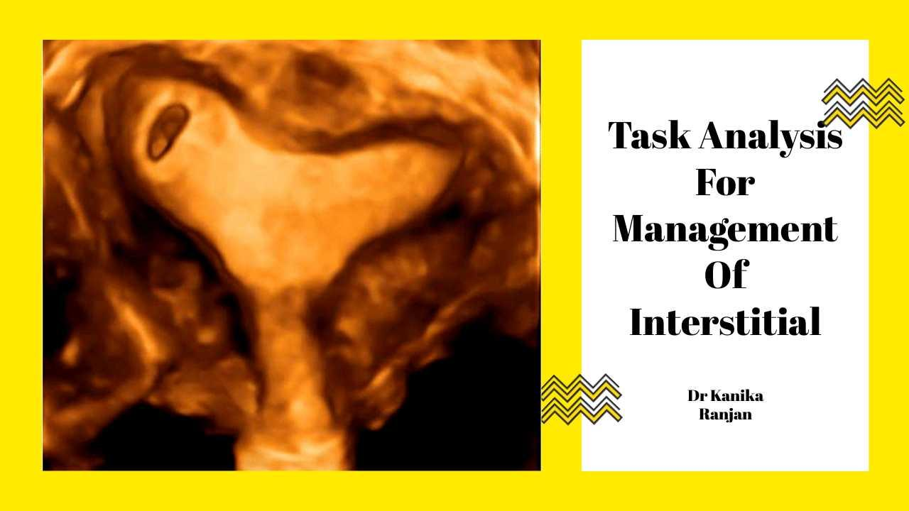 Task Analysis For Management Of Interstitial Pregnancy