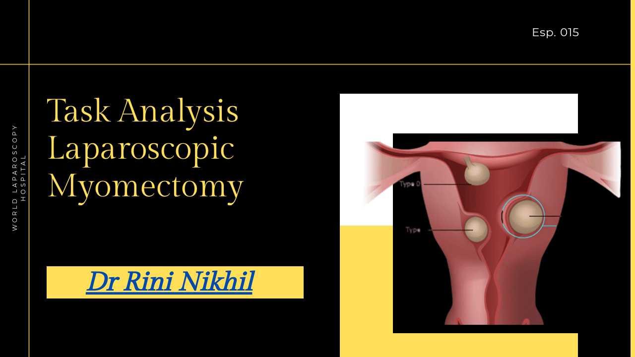 Task Analysis of Laparoscopic Submucous Myomectomy