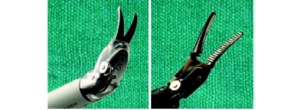 Robotic scissors and bipolar dissector
