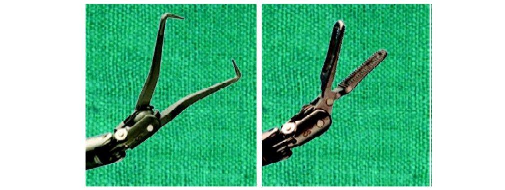 Robotic tenaculam and grasper