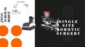 टाइटन मेडिकल इंक का एकल चीरा रोबोटिक सर्जिकल सिस्टम।
