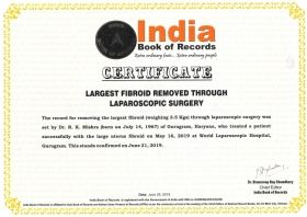 Largest Fibroid Removed by Laparoscopic Surgery by Dr. R.K. Mishra